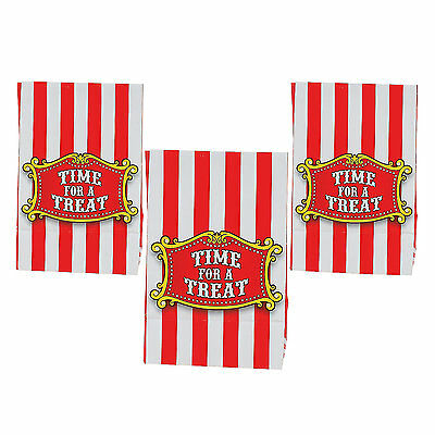 Circus Clown Carnival Party Supplies Pack Of 12 Mini Lolly Treat Favour Bags
