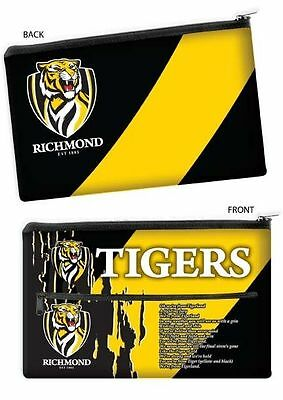 QUALITY LARGE AFL Richmond Tigers Pencil Case for School Work stationary