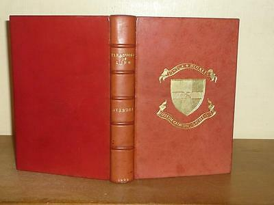 LORD AVEBURY NICE FULL PRIZE RED LEATHER 1909 ESSAYS ON THE PLEASURES OF LIFE