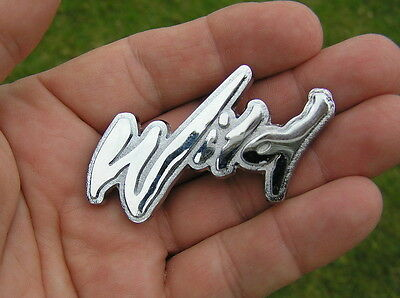 WILD MOTORCYCLE BADGE Chrome Metal Emblem *BRAND NEW* Chopper Harley Davidson
