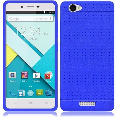 BLU Studio Energy D810L Blue Slim Flexible Rubber Gel Silicone Case Cover