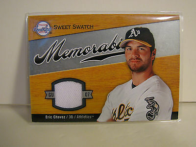 2007 Upper Deck Sweet Spot Swatch - Eric Chavez - Game Used Jersey Patch Card