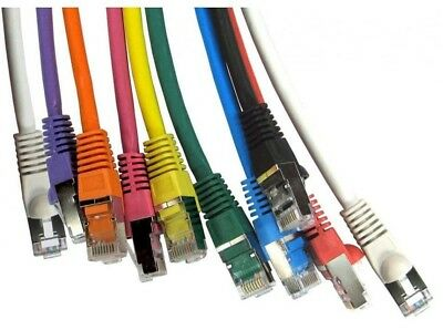 Network Cable RJ45 Ethernet FAST CAT6A SNAGLESS Metal Ends 0.5m 1m 2m to 20m LOT