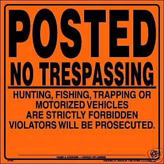 Lot of 100 POSTED No Trespassing Hunting Fishing Signs