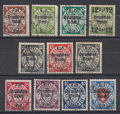 Germany / Deutsche Reich 1939 WWII ☀ overprints on DANZIG stamps ☀ 11 used
