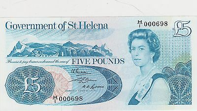 P7a SAINT HELENA 1976 FIVE POUNDS BANKNOTE IN MINT CONDITION