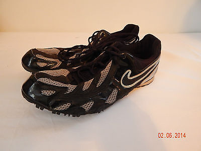 Mens Track and Field Shoes Cleats Size 12 NIKE Black Silver
