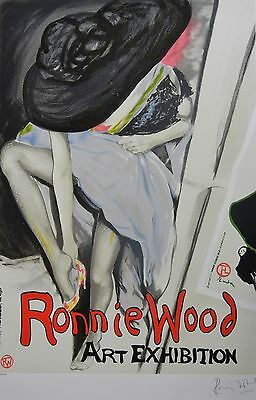 "RONNIE WOOD "" Jo with Hat "" HANDSIGNIERT ROLLING STONES RON LITHOGRAPHIE"