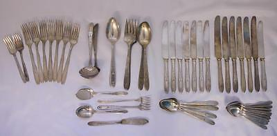 Set 49 Pieces VTG Grosvenor Pattern Community Oneida Silverplate Jelly Serving