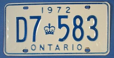 1972 ONTARIO DOCTOR LICENSE PLATE #D7583                              SL2752