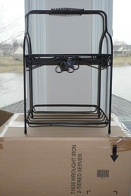 Longaberger WI Wrought Iron (Two) 2 Tiered Server - Excellent Used Condition