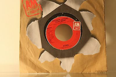 """STING - CONSIDER ME GONE/ FORTRESS AROUND YOUR HEART   - VINYL 7"""" 45 SINGLE  A"""