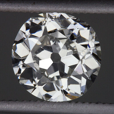 1.25ct G COLOR OLD EUROPEAN EXCELLENT CUT DIAMOND VINTAGE LOOSE ANTIQUE MINER