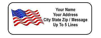 30 American Flag Personalized Address Labels