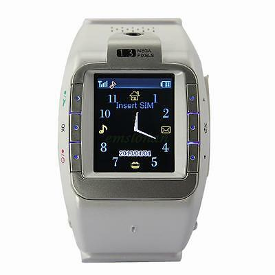1.4 inch Fashion Wrist Mobile Watch Cell Phone GSM Camera Touch White Unlocked
