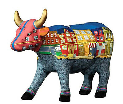 * COW PARADE Figurine MOO YORK NEIGHBORHOOD Medium Statue HOUSE APARTMENT CITY