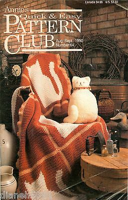 Annie's Quick & Easy Pattern Club Back Issue Magazine Aug/Sept 1990 # 64