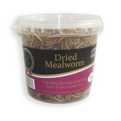 Wild Bird Meal Worms Food - 1 Litre Tub [Bargain]