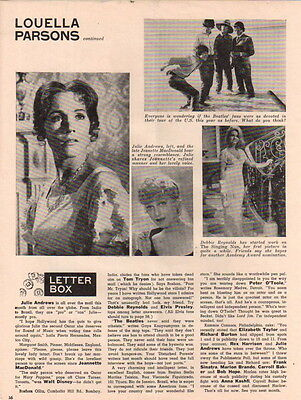 Julie Andrews Clipping Magazine Photo orig 1pg 8x10  P5350