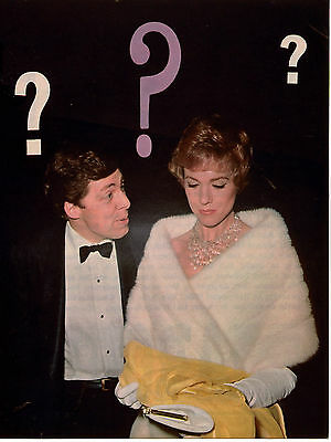 Julie Andrews in Fur CLIPPING orig 1pg 8x10 Magazine Photo L0285