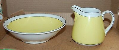 Pretty Yellow Nippon Creamer Cereal Bowl Dinnerware Berry Black Line