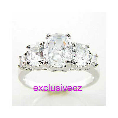 Spring Break Special~~2.75 Carats White Gold Plated 14K GP Party Cz Lady Ring