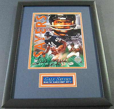 GALE SAYERS CHICAGO Bears AUTOGRAPHED Signed 8 X 10 PHOTO 12 X 16 DOUBLE MAT COA