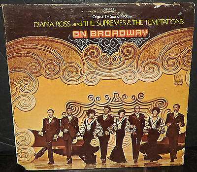 Diana Ross And The Supremes & The Temptations On Broadway 1969 LP Record Vinyl