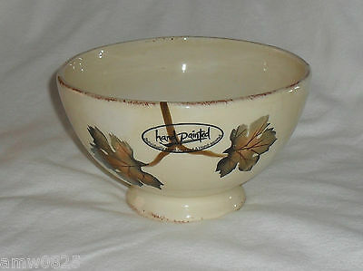 VILLA GRANDE FOOTED CEREAL BOWL HAND PAINTED COLLECTION POTTERY DINNERWARE
