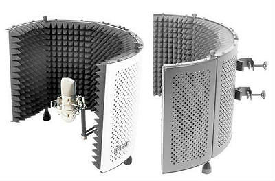 NEW PYLEPRO PSMRS11 MICROPHONE ISOLATION SHIELD WITH SOUND DAMPENING FOAM