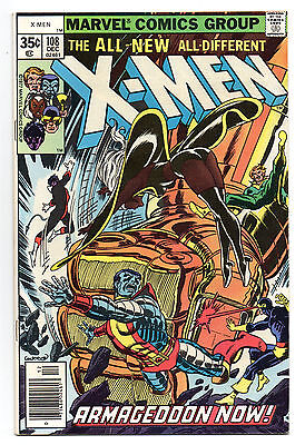 X-Men Vol 1 No 108 Dec 1977 (VFN) Cents Copy, 1st John Byrne art, Bronze Age