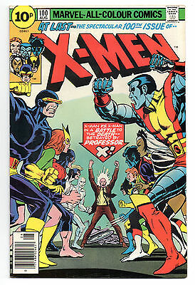 X-Men Vol 1 No 100 Aug 1976 (FN+ to VFN-) Marvel Comics,Bronze Age (1970 - 1979)