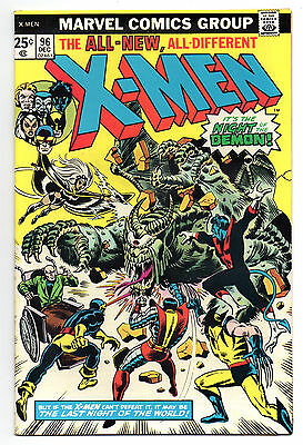 X-Men Vol 1 No 96 Dec 1975 (VFN) Cents Copy, Bronze Age (1970 - 1979)