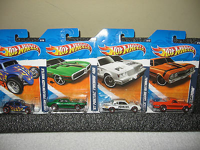 """Hot Wheels Mixed Lot of 4-     """"RED LINES"""""""