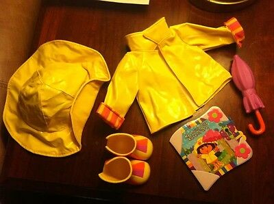 NICK JR DORA THE EXPLORER RAINY DAY ADVENTURE DRESS UP DOLL OUTFIT & ACCESSORIES