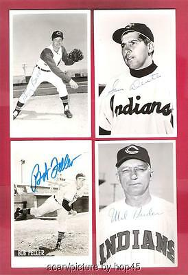 Lot Of 8 Cleveland Indians AUTOGRAPHED/SIGNED Team Issued Postcards 1950s 1960s