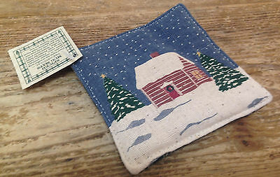 Log Cabin Plaid Spiced Mug Mat Alice's Cottage Coffee Coaster USA With Tag Cloth