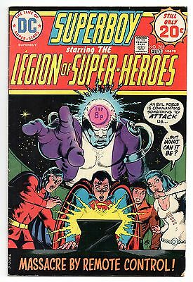 Superboy  Vol 1 No 203 Aug 1974 (FN) Starring the Legion of Super-Heroes