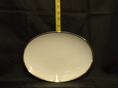 THOMAS CHINA WIDE PLATINUM 798 28cm OVAL STEAK PLATE - RETIRED