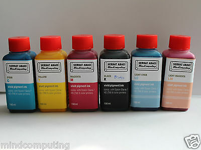 Refill 6x 100ml vivid pigment ink compatible with Epson Claria 6 color NON OEM