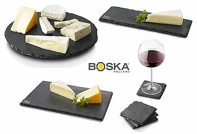 Boska Monaco Thick Durable Slate Cheese Serving Board Coasters in Various Sizes