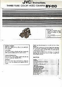 JVC BY-110 Three Tube Color Video Camera Manual