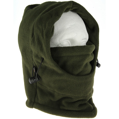 Deluxe Camo Snood with Face Guard Fishing Hunting Warmer Balaclava Hat