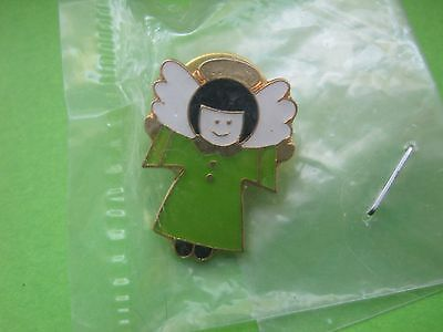 Green Angel Award Girl Scouts Official GSUSA Licensed Pin/1990's/NIP/RARE/1 Ownr
