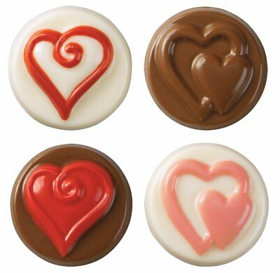 Wilton HEARTS Cookie Confectionary Candy Mould Mold
