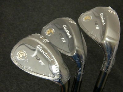 NEW CLEVELAND CG 16 BLACK PEARL WEDGE SET 52* 56* 60* AW SW LW WEDGES STEEL CG16