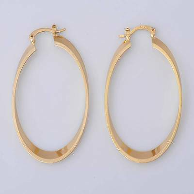 Pretty 14K Solid Yellow Gold Filled Wedding Jewelry Earrings Gift for Women E013