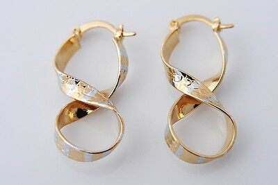 Pretty 14K Solid Yellow Gold Filled Hoop Style Womens Jewelry Earrings E302