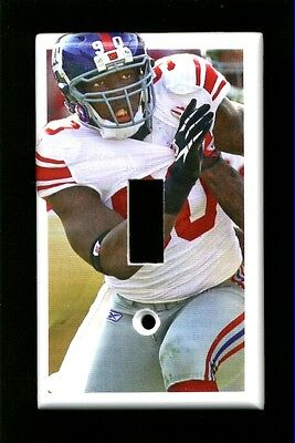 JASON PIERRE-PAUL LIGHT SWITCH PLATE NEW YORK GIANTS