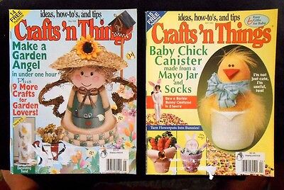 Lot of 2 Crafts 'n Things Magazines - April 1999 May 1999 ideas, how-to's & tips